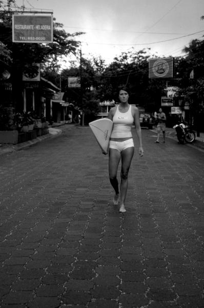 Woman Surfer in Costa Rica